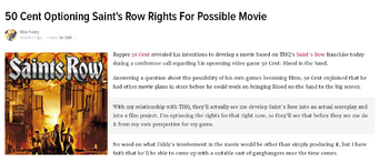 Saints Row movie Kotaku article