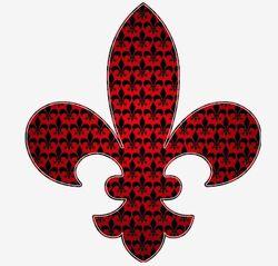 Red and black fleur de lis room stickers-rbcfc28a416b146159220a4c2de78f13a 8ve9l 8byvr 512
