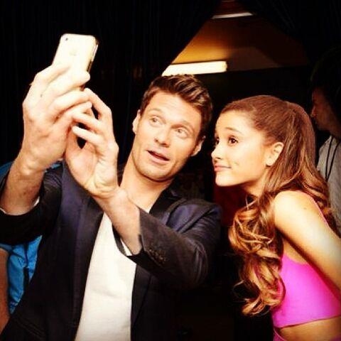 File:Ryan Seacrest and Ariana at Wango Tango 2013.jpg