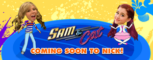 Sam & Cat banner on TheSlap