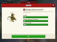 Dragon statue level 3