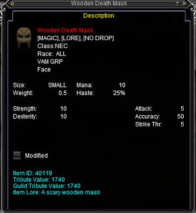 Wooden Death Mask