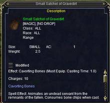 Satchel of gravedirt