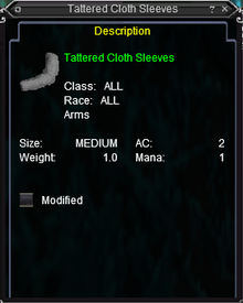 Tattered Cloth Sleeves