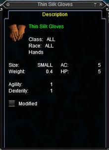 Thin Silk Gloves