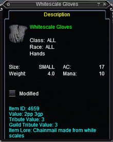 Whitescale Gloves