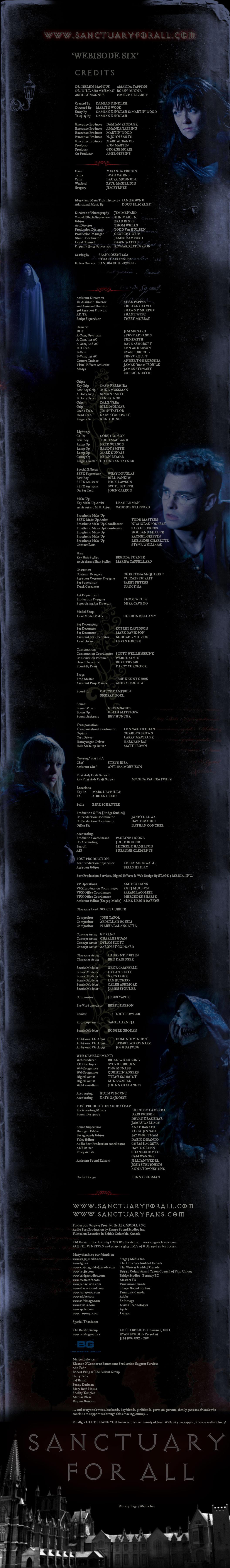 Webisode 6 (credits)