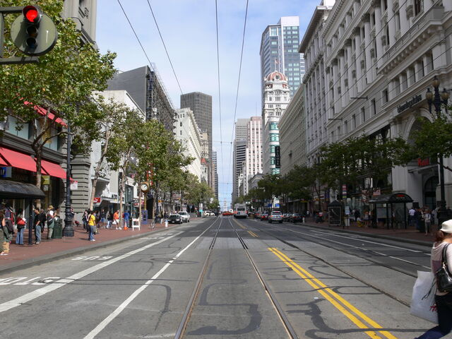 File:San Francisco Market Street between 4th and 5th St.jpg