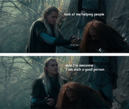 Legolas being charitable
