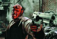 Hellboy with gun