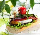Toasts aux légumes grillés