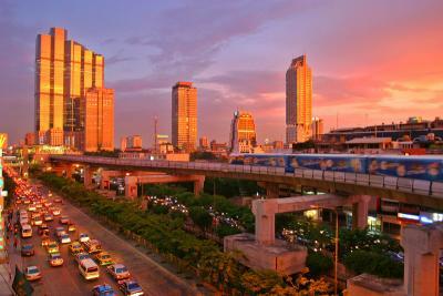 File:Bangkok skytrain sunset.JPG