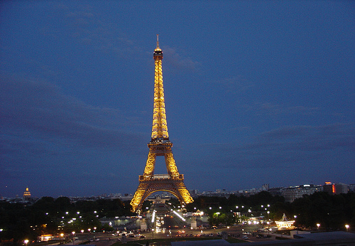 File:Night view of Eiffel Tower, Paris, France.jpg