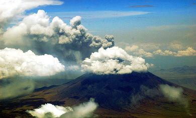 Mt aerial Ol Doinyo Lengai (