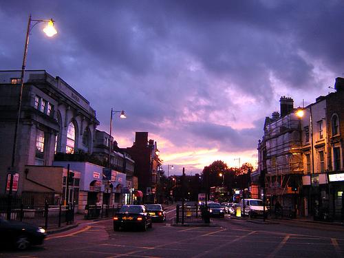 File:Sunset over Lower Clapton.jpg