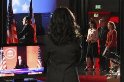 Olivia at the debate