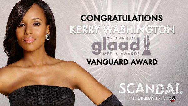 2015 GLAAD Awards - Kerry Washington Nomination