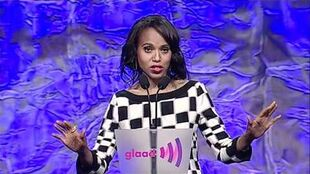 Kerry Washington Presents Award to Shonda Rhimes at the glaadawards