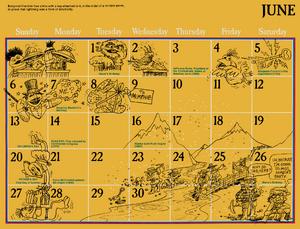 1976 sesame calendar 06 june 2