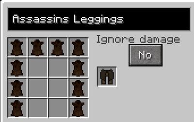 Assassins leggings recipe