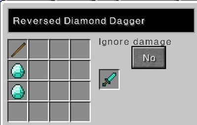 Reversed diamond dagger recipe