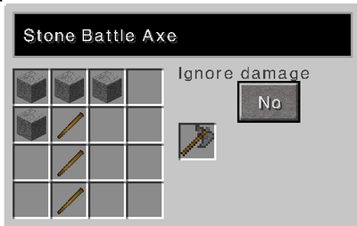 Stone battle axe recipe