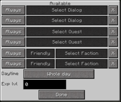Redstone block menu 2