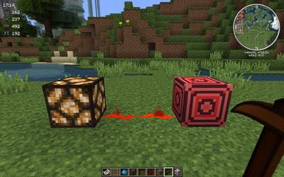 Redstone block on
