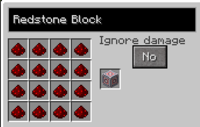 Redstone block recipe