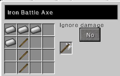Iron battle axe recipe