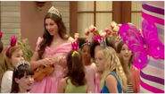Princess Oliviana with little girls surprised