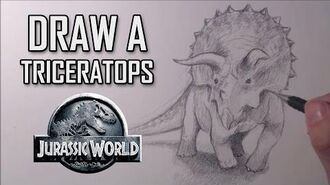 How to draw a Triceratops from Jurassic World