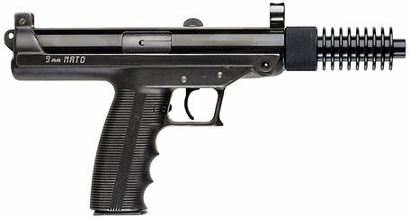 Claridge Hi-Tec S9 Pistol with Cooling Fin Muzzle Extension - 9mm