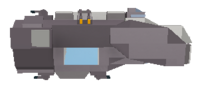 Frigate side view