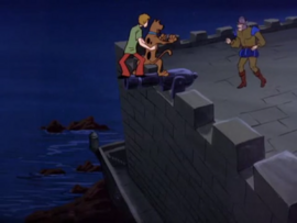 Shag and Scoob chased by the Ghost of Juan Carlos