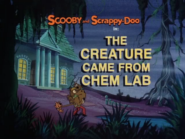 File:The Creature Came from Chem Lab title card.png