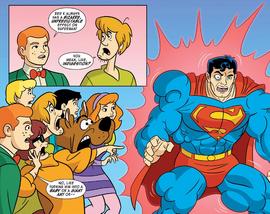 Superman transforms into Super-Monster