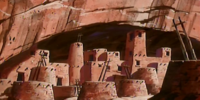 Indian cliff dwellings (The Hairy Scare of the Devil Bear)