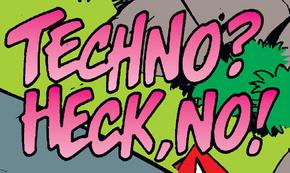Techno? Heck, No! title card