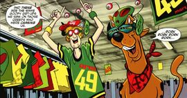 Shag and Scoob in Area 49 garb