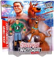 Cena and Scooby Mattel toys