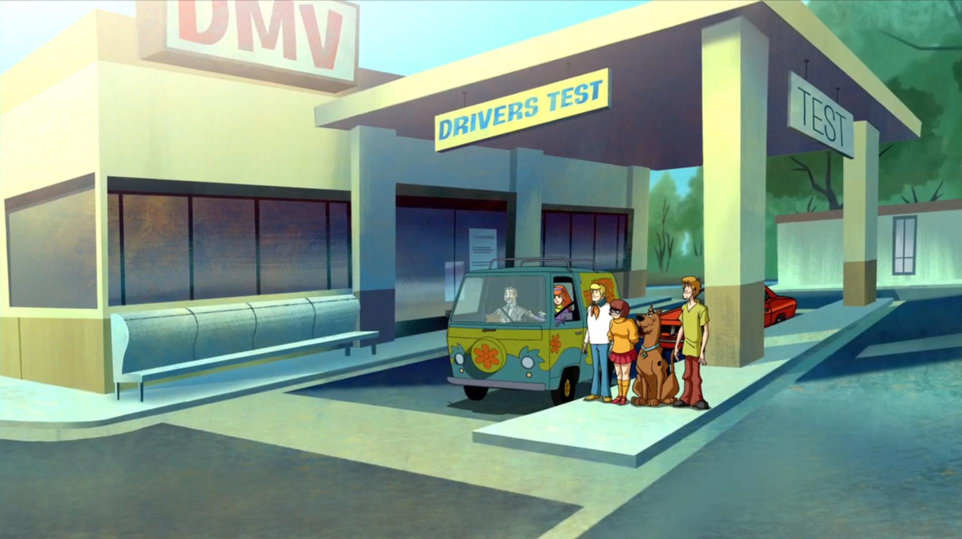 Department Of Motor Vehicles Scooby Doo Moon Monster