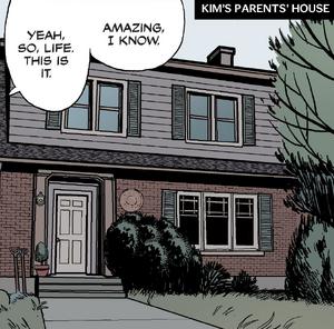 Kim's parents' house