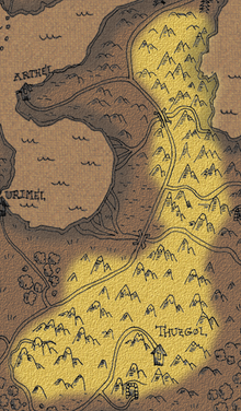Karantil mountain ridge map