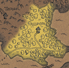 Woods of allovium map