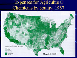 Expences for agr. chem by county