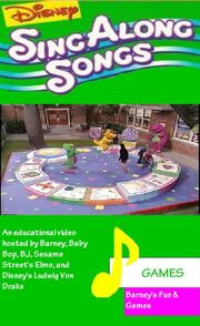 Disney Sing Along Songs - Games 2010 VHS Cover
