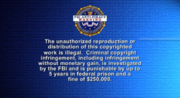 FBI Anti-Piracy Warning screen (with White Arial Bold Text)