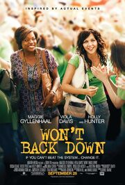 2012 - Won't Back Down Movie Poster