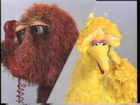 File:Big Bird and Snuffy calling each other.jpg
